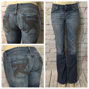 7 For All Mankind Flynt Boot Cut Jeans Size 29X33